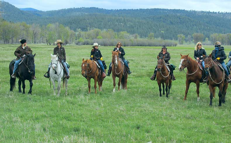 Cowgirl Spring Roundup in Montana